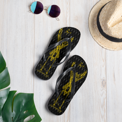 Contortion Flip-Flops: Contorture Solid Gold