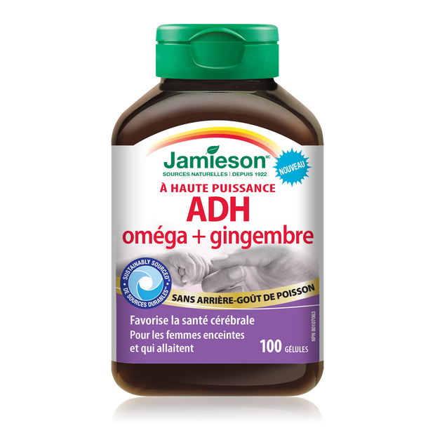 High Potency DHA Omega+Ginger