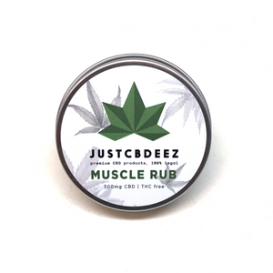 Justcbdeez Hemp Muscle Rub 300mg - justcbdeez