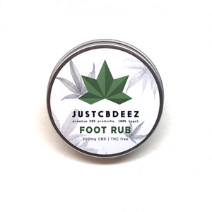 Justcbdeez Foot Rub 300mg CBD