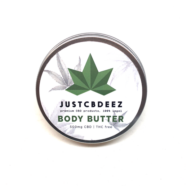 Justcbdeez Hemp Body Butter 500mg - justcbdeez
