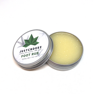Justcbdeez Hemp Foot Rub 300mg - justcbdeez