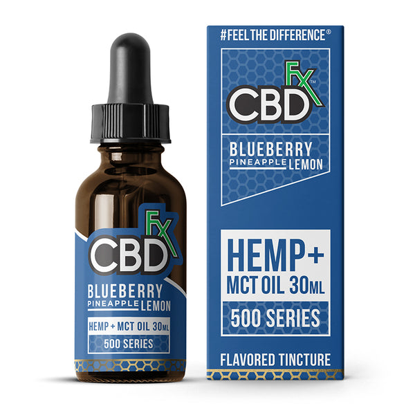 CBDfx - Flavoured CBD Tincture Oil - Blueberry Pineapple Lemon - 500MG