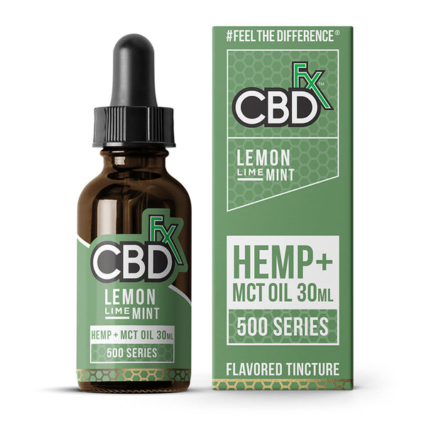 CBDfx - Flavoured Hemp Tincture Oil - Lemon Lime Mint - 500MG