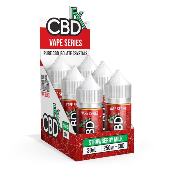 CBDfx Strawberry Milk – CBD Vape Juice - 6-Pack - justcbdeez