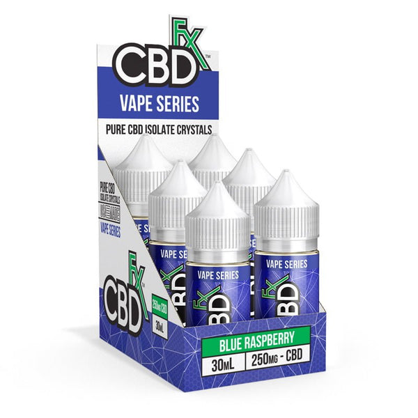 CBDfx Blue Raspberry – E-liquid - 6-Pack - justcbdeez
