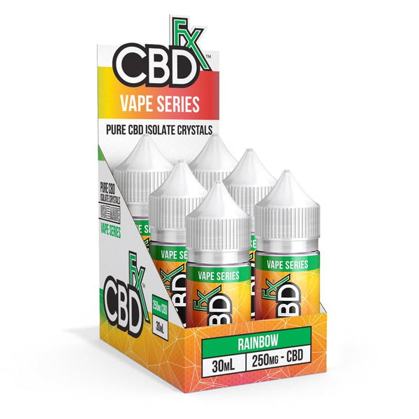 CBDfx Rainbow Candy E-liquid - 6-Pack - justcbdeez