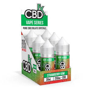 CBDfx Strawberry Kiwi – CBD Vape Juice - 6-Pack - justcbdeez