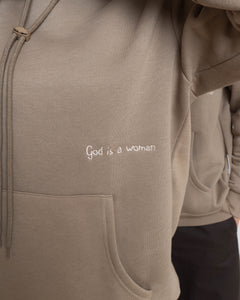 "HOODIE ""GOD IS A WOMAN"""