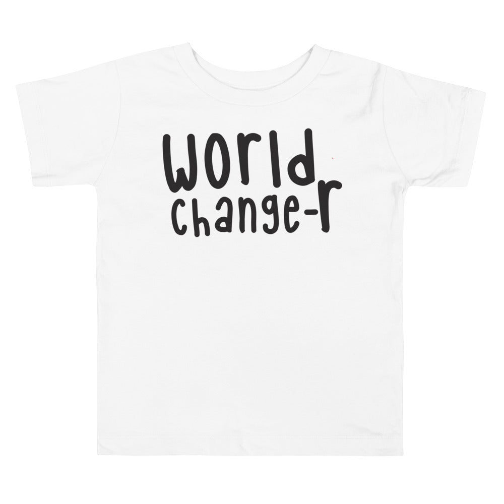White World Changer Toddler Tee (Also Available in Pink)