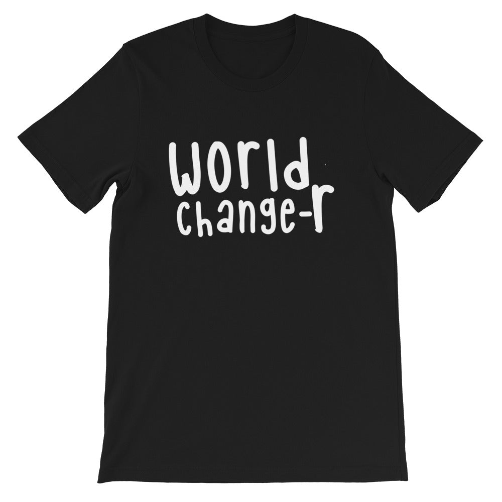 Black Adult Unisex World Changer T-Shirt (Also available in Pink)