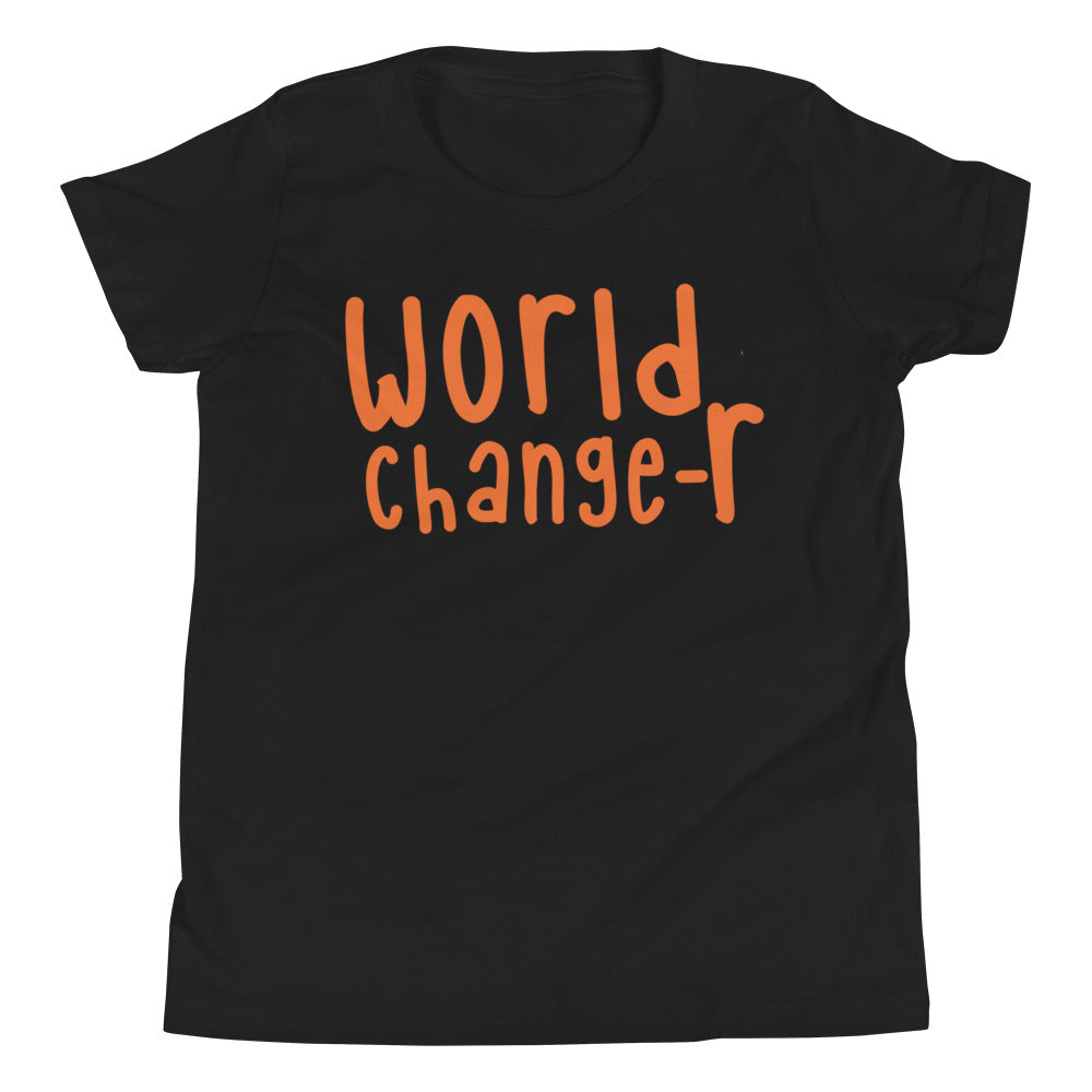 Unisex Orange Lettered World Changer T-Shirt