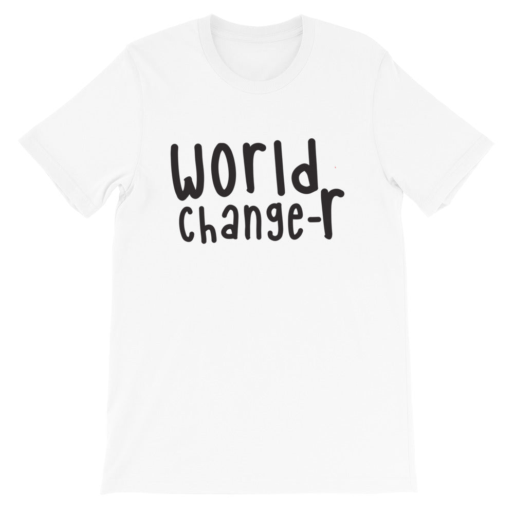 White Adult Unisex World Changer T-Shirt