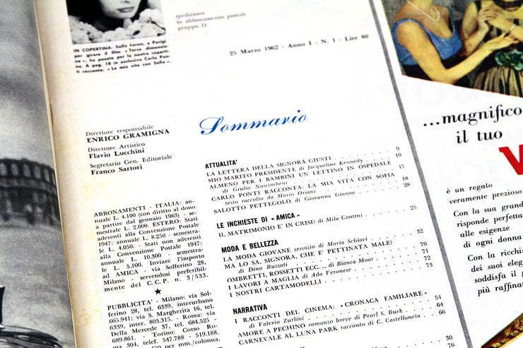 'Amica' mag, the first number