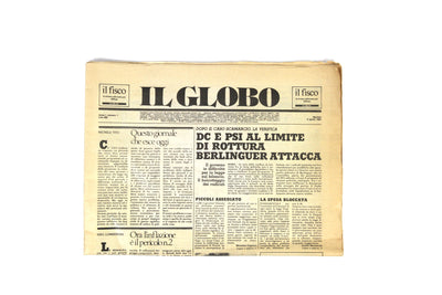 'Il Globo' newspaper, first number