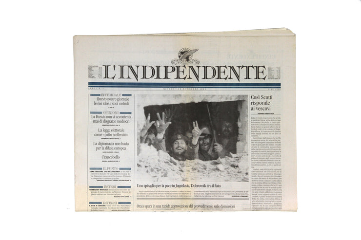 'L'Indipendente', first number