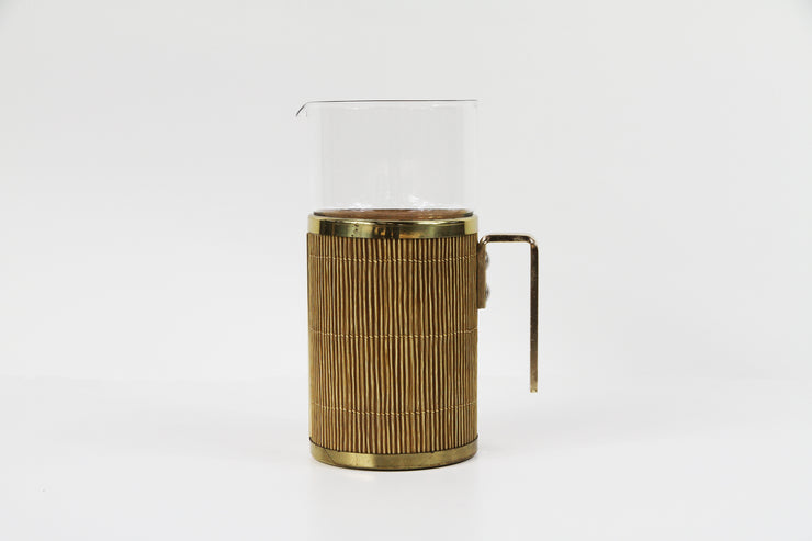 Ice bucket upholstered of bamboo