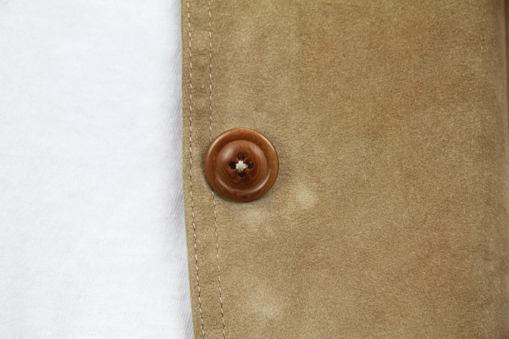 Suede leather jacket by Fratelli Rossetti