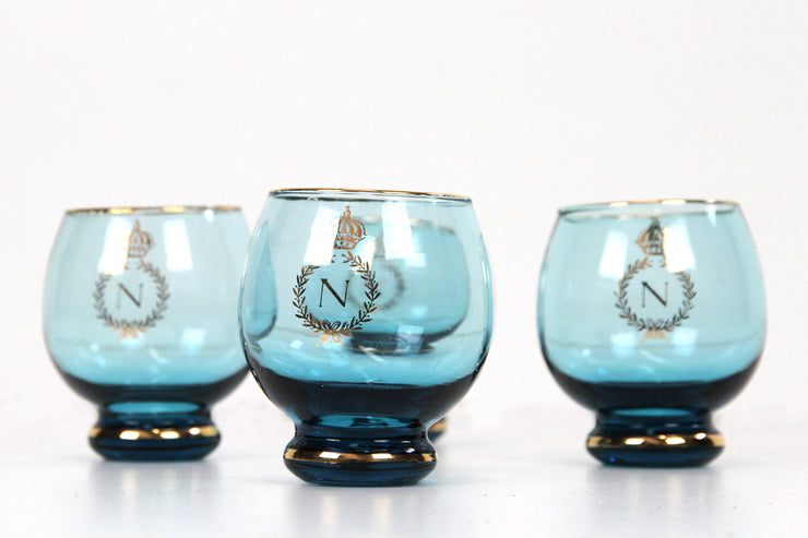 Napoleon blue glasses set