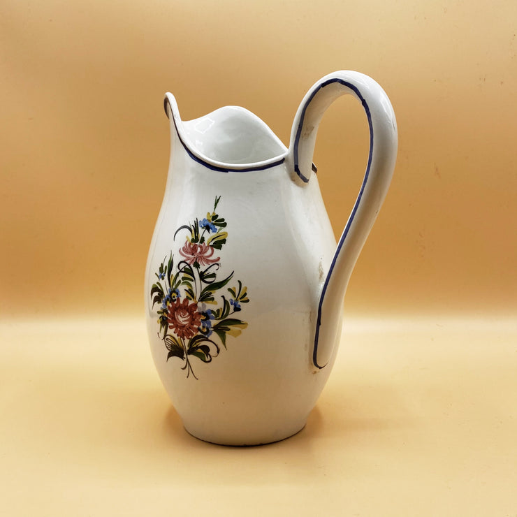Floral Hand-Decorated Jug