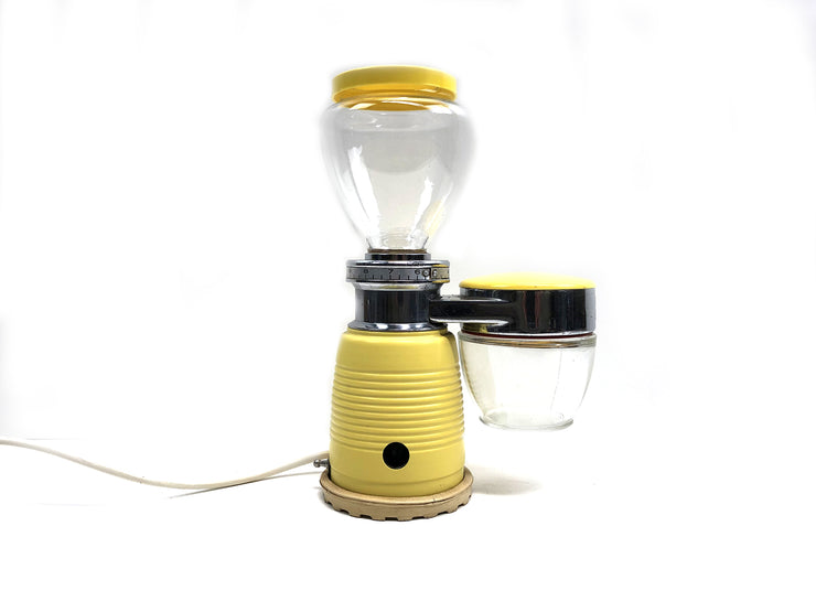 Yellow coffee grinder