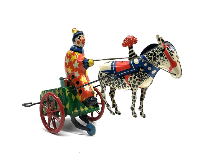 Sovietic tin toy spring-loaded