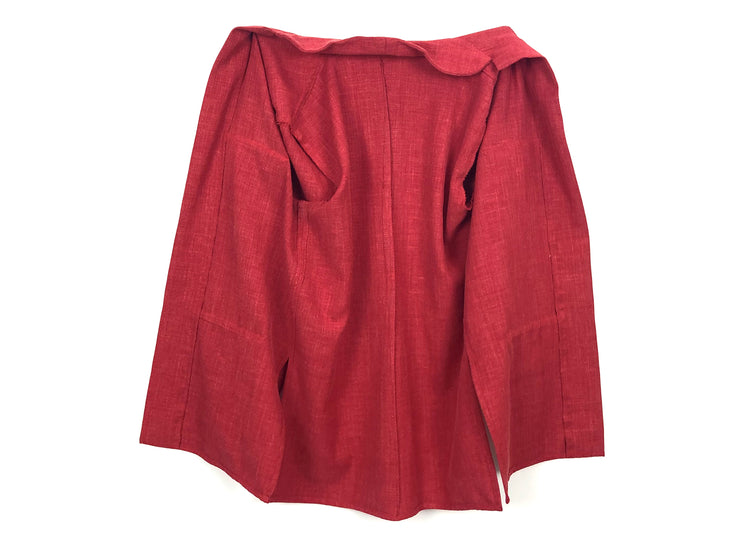 Red linen jacket