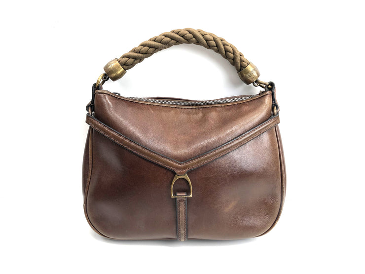 Leather handbag