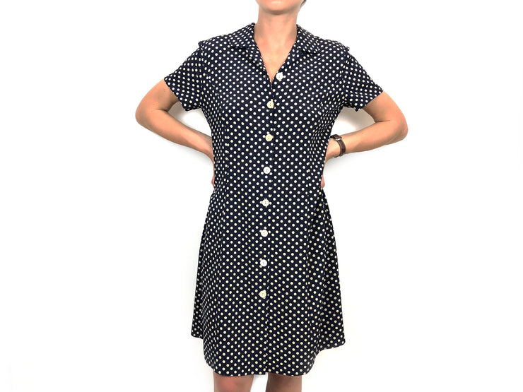Blue polka dot little dress