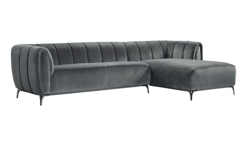 ROMA SECTIONAL - GUNMETAL