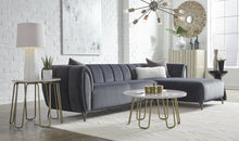 Load image into Gallery viewer, ROMA SECTIONAL - GUNMETAL