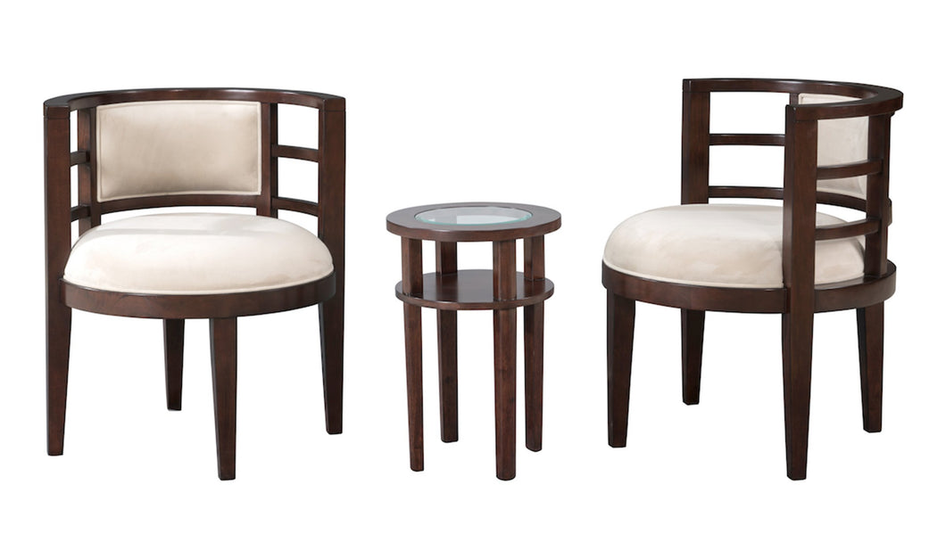COSMO 3PC CHAIRS & TABLE SET