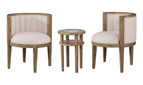 HAMPTON 3PC CHAIRS & TABLE SET