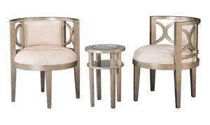 VOGUE 3PC CHAIRS & TABLE SET