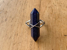 Load image into Gallery viewer, Blue Goldstone Ring