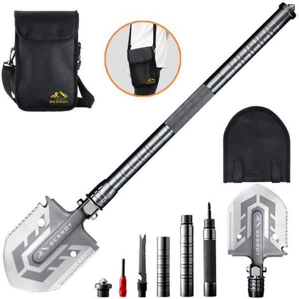 Tactical Survival Shovel - The Ultimate Survival Tool 23-in-1 Multi-Purpose Folding Shovel