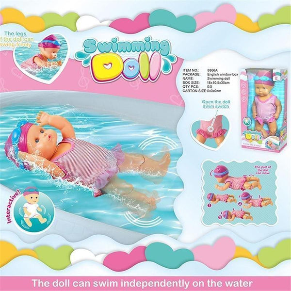Baby Doll Electric Waterproof Swimming Doll