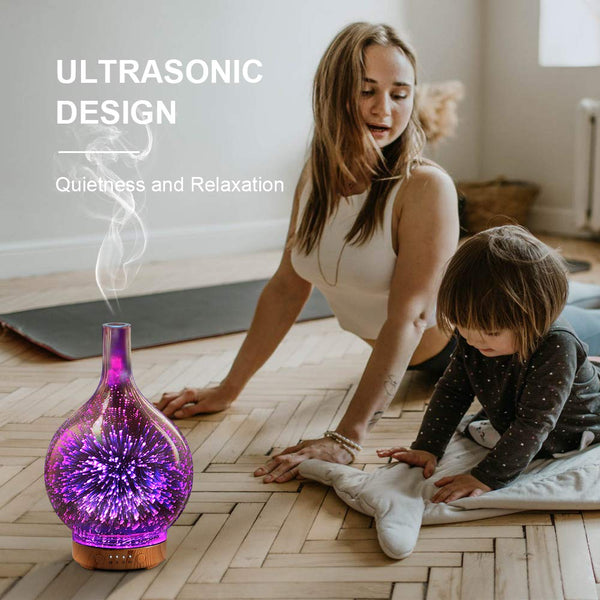 Ultrasonic Firework Humidifier & Essential Oil Diffuser