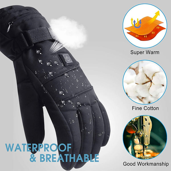 Unisex Electric Heated Adjustable Gloves