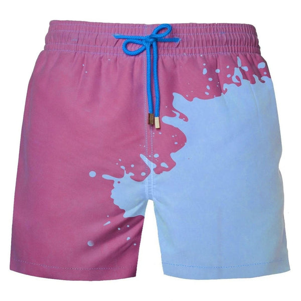 Men Magical Change Colour Swimming Trunks Beach Shorts