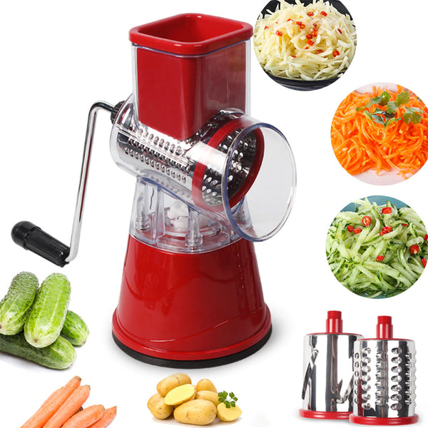 3 in 1 Rotary Drum Slicer Cutter Grater
