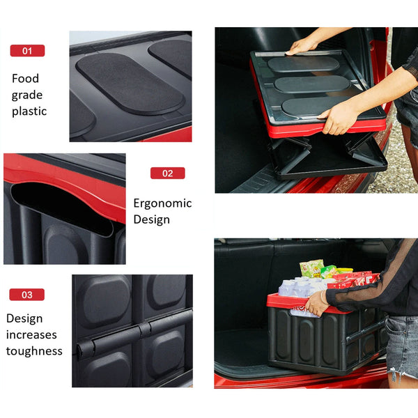 Collapsible Car Trunk Organiser & Storage Container Cargo Box