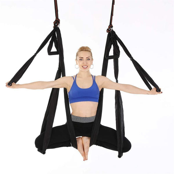 Anti-Gravity Aerial Yoga Hammock -  Trapeze Home Gym Hanging Belt Swing Strap Pilates