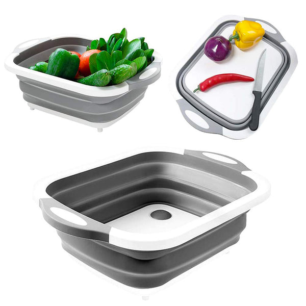 Multifunction Collapsible Chopping Board - Drain Basket