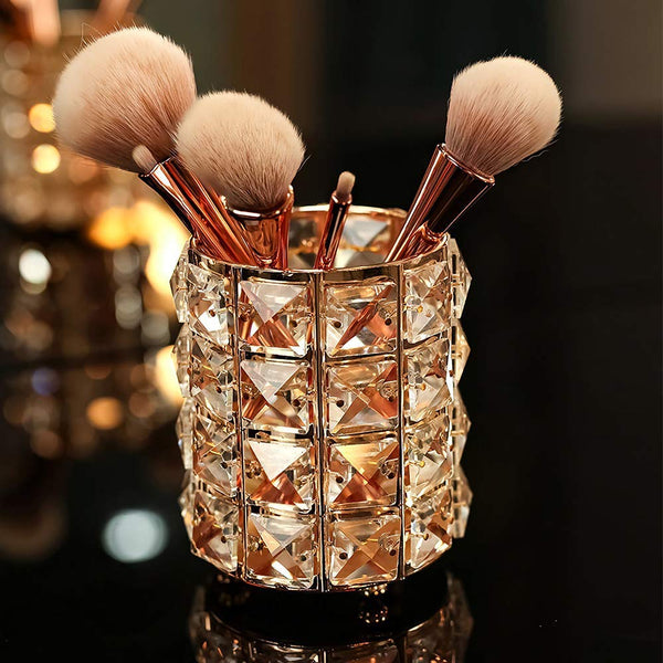 Crystal Makeup Brush Holder Organiser