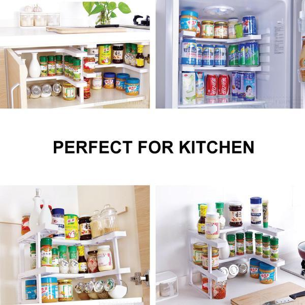 Stackable Cabinet Shelf Organiser - Under Sink Storage (1 Set of 2 shelves)