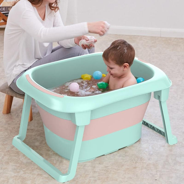 Collapsible Folding Non Slip Baby Bath Tub