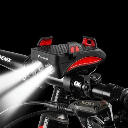 Multi-function Bicycle Light USB Rechargeable LED Bike Head Lamp