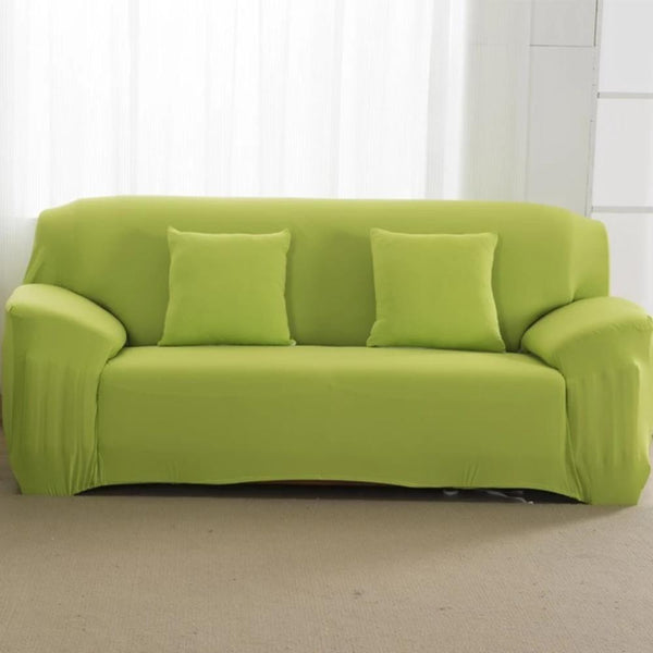 Stretchable Magic Sofa Cover - Plain Colour
