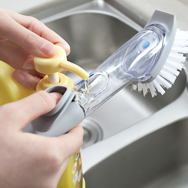 2 IN 1 LIQUID DISPENSER CLEANING BRUSH-kitchen-TopDealHunter